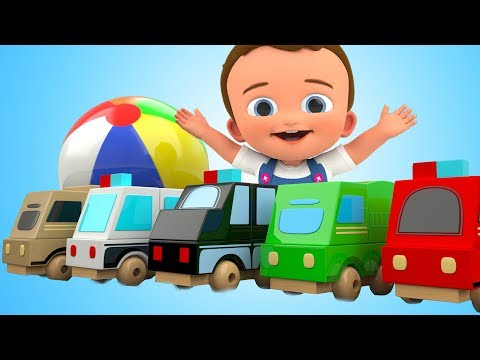 Learn Colors for Children with Baby Learning Vehicles Toys 3D Kids Toddler Kinder Educational Videos