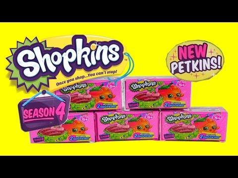 New Shopkins Season 4 Shopping Crates & Baskets with Petkins, Ultra Rares, Special Editions
