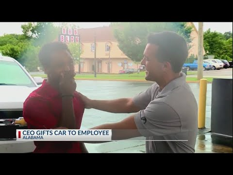 CEO gifts dedicated employee new car