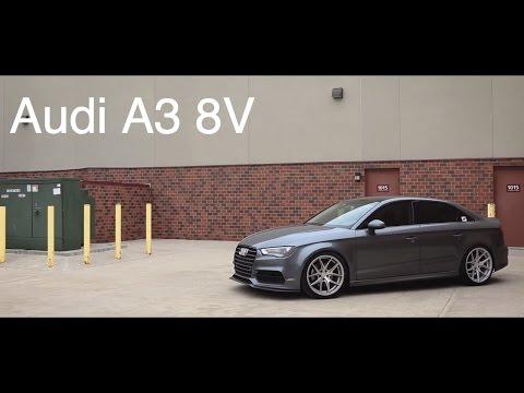 Lowered Audi A3 8V |  AG Wheels | KW Suspension | B&B Exhaust | JB1