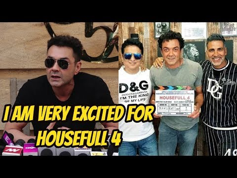 I Am Very Excited For Housefull 4 Says Bobby Deol