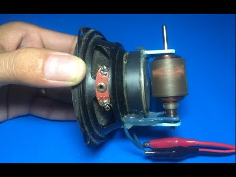 Download Experiment high speed DC motor with speaker