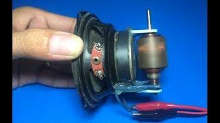 Video Experiment high speed DC motor with speaker MP3, 3GP, MP4, WEBM, AVI, FLV November 2018