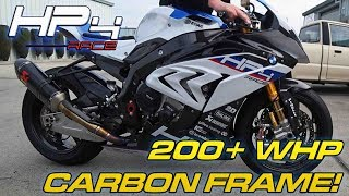 2. BMW HP4 RACE Details + Dyno Runs -  CARBON FRAME!