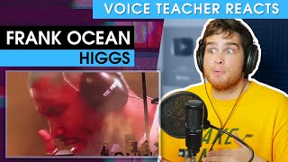 Voice teacher reacts to Frank Ocean - Higgs (Live)