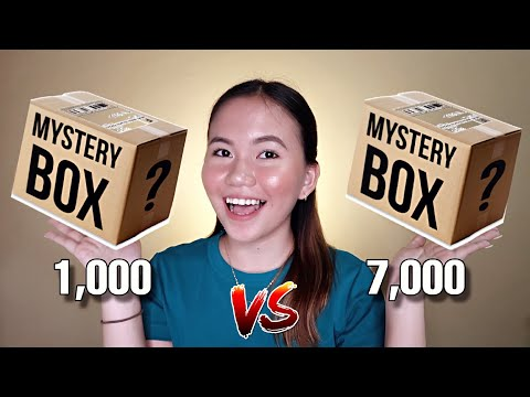 1,000 PESOS VS. 7,000 PESOS MYSTERY BOX UNBOXING