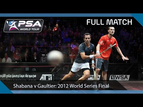 Squash : 2012 World Series Finals – Final Amr Shabana v Gregory Gaultier