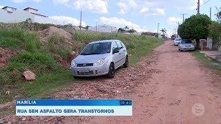 Falta de asfalto causa transtornos no Jardim Universitário em Marília