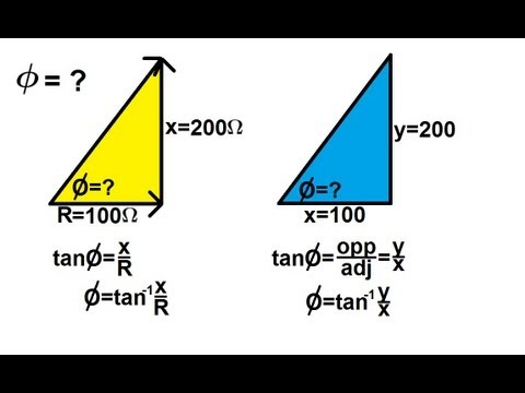 Trigonometry - Application of Sine, Cosine, and Tangent  (5 of 8) Arc Tangent