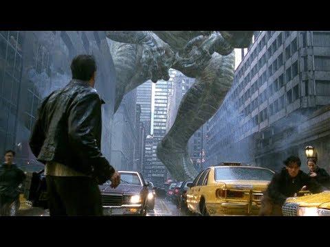 Godzilla in New York - Almost Squashed Scene - Godzilla (1998) Movie Clip HD