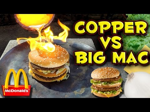 Pouring Molten Copper on a Big Mac