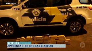 Dois homens presos por tráfico de drogas e posse ilegal de arma de fogo