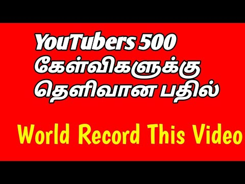 New YouTubers 500 Basic Questions Answered By Selvaa