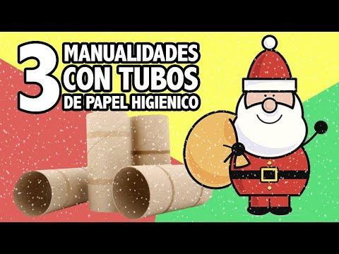3 Manualidades Navidenas Con Rollos De Papel Higienico Manualidades - Manualidades-con-rollos-de-papel-higienico-para-navidad