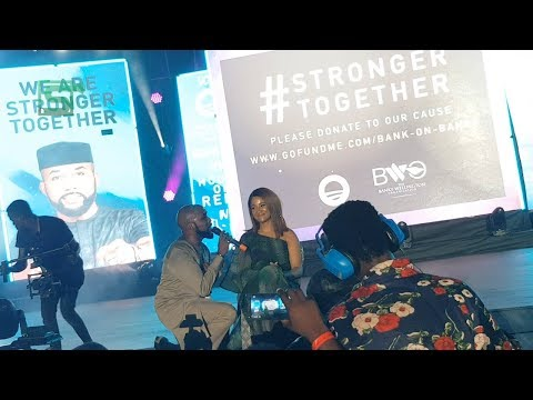 """"""" This Is my last Performance"""" Banky Says As He Performs With His Wife Adesua At Rally In Lagos."""