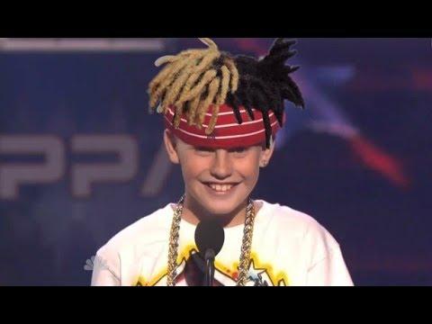 CJ Dippa rapping XXXTentacion on americas got talent