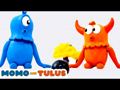 Momo and Tulus : Bowling   Episode 9   Funny Monsters   Cartoons for Kids