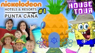 SPONGEBOB HOUSE TOUR in REAL LIFE! Nickelodeon Suites Resort Pineapple Villa w/ FV Family