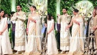 Inside Footage of Ranveer Singh's FUNNY Moments with Deepika Padukone @Last Nights WEDDING Reception