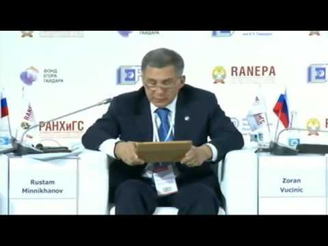 Рустам Минниханов на Гайдаровском форуме 2014 15.01
