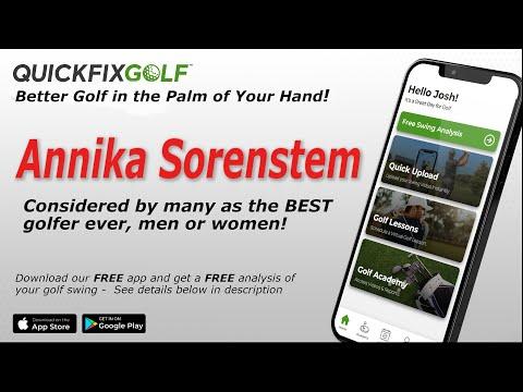 Golf Swing Analysis Annika Sorenstam