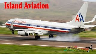 Sunday afternoon traffic with a good mix of small props on a very windy and overcast day !!!! St. Kitts Robert L. Bradshaw Int'L...
