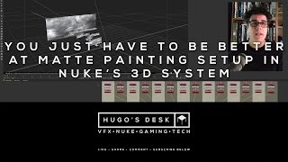 Simple tutorial showing how to use the Z and Focal options in Nuke's 3D cards when setting up a Matte Painting in the 3D system.Music:Backed Vibes Clean - Rollin at 5 by Kevin MacLeod is licensed under a Creative Commons Attribution licence (https://creativecommons.org/licenses/by/4.0/)Source: http://incompetech.com/music/royalty-free/index.html?isrc=USUAN1400029Artist: http://incompetech.com/