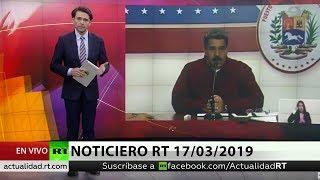 NOTICIERO RT 🔴 Nicolás Maduro anuncia un cambio de su Gabinete ejecutivo