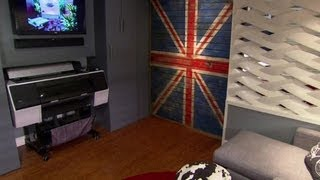 Dividing the Family Room with Union Jack HGTV House Crashers