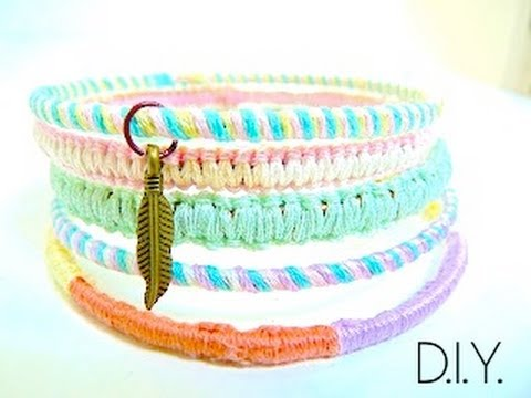 Tutoriel - DIY : Recycler vos bracelets aux couleurs pastels - Charmed Bangle Bracelets