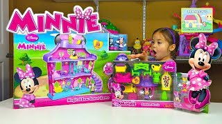 Huge Disney Minnie Mouse Dollhouse | Magical Bow Sweet Home and Kid Friendly Surprise Toys