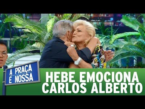Hebe faz discurso emocionante sobre Carlos Alberto | Praça Retrô (26/01/17)