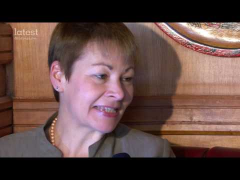 Caroline Lucas MP, the leader of Green Party UK
