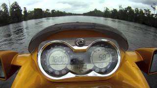6. Sea doo Rxt 215 Top Speed with 5 Go Pro shots!