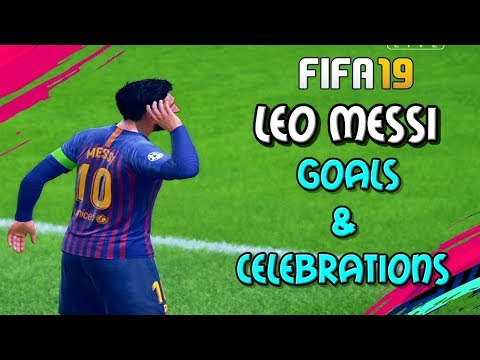 FIFA 19 Messi Best Dribbling Goals And Celebrations 2018/2019 PS4
