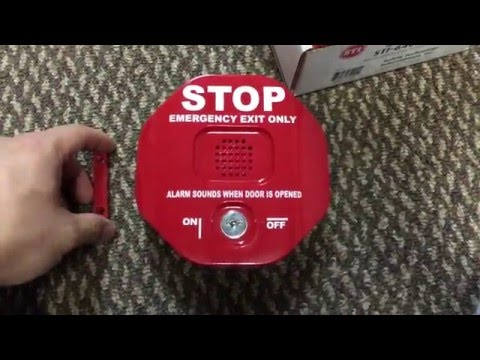 STI-6400 Safety Technology International Exit Stopper Multifunction Door Alarm