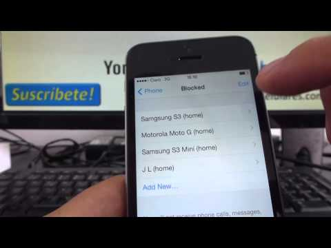 unblock - iPhone 5 5s 5c unblock a contact on iphone Channeliphone smartphone http://trucosparacelulares.com/ Tips and advice iphone 6 5s 5 tutoriales, Review, unboxin...