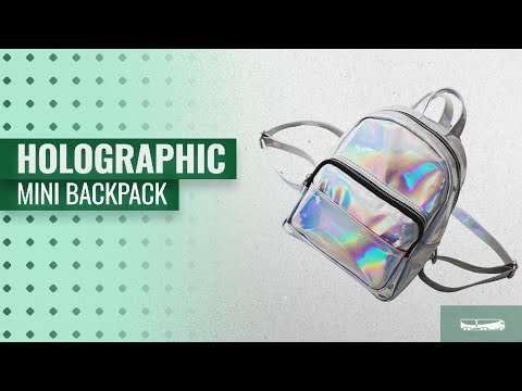 Top 10 Holographic Mini Backpack [2018]: Tinksky Girl's Laser Hologram Backpack Casual Satchel Mini