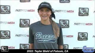 2022 Tayler Biehl Shortstop and Speedy Slapper Softball Skills Video - Ca Breeze