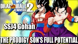 Dragon Ball Xenoverse 2 How To Make SSJ4 Gohan With Full Moveset + Gameplay! Here is my SSJ4 Gohan Build The Prodigy Son's Full Potential! Hope to see y'all use this to make your characters better! Hope y'all enjoy!! Have an amazing blessed day and live life to its fullest! :DMake Sure To Follow Me On Social Media!!Twitter: https://twitter.com/jrzsaiyanInstagram: https://www.instagram.com/jrzsaiyan/Twitch: http://www.twitch.tv/jrzsaiyan