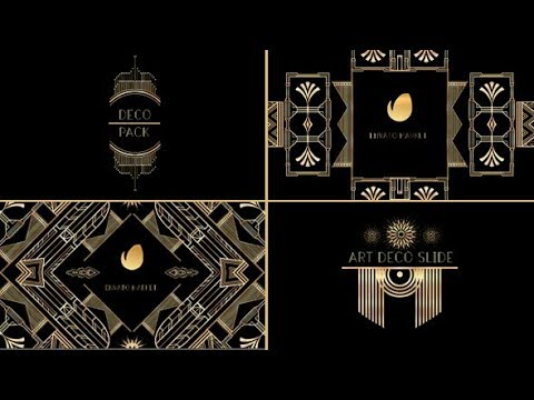 Art Deco Element Pack | After Effects template
