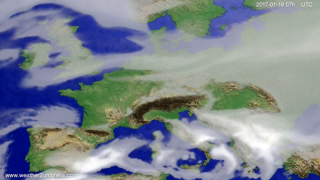 Cloud forecast Europe 2017-01-15