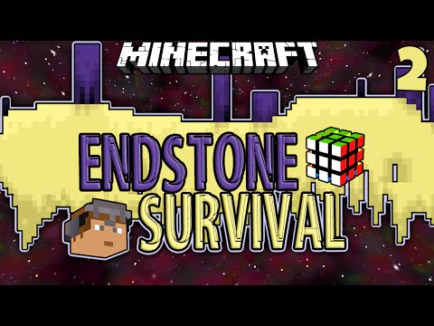 Minecraft | ENDSTONE SURVIVAL #2 | THE END OF THE WORLD w/ SkitScape (Minecraft End Stone Survival)