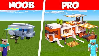 Minecraft NOOB vs PRO: RV CAMPING VAN BUILD CHALLENGE in Minecraft / Animation