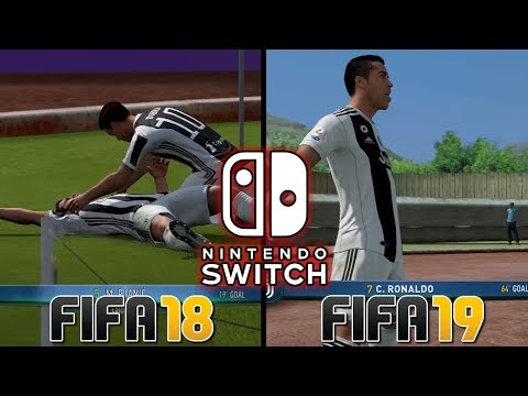 FIFA 18 VS FIFA 19 | COMPARISON | Nintendo Switch