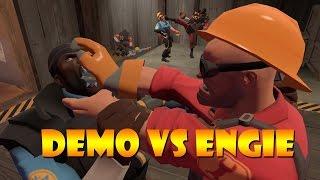 TF2 bot battle 24 Demo Vs Engineer