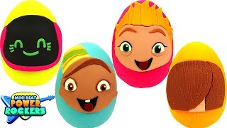 Huevos Sorpresas de Mini Beat Power Rockers en Español de Plastilina Play Doh