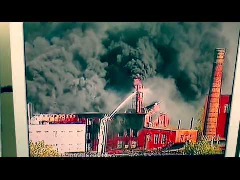 ФОТО и ВИДЕО огромного пожара на силламяэском заводе Molycorp Silmet. Дополнено в 19:50