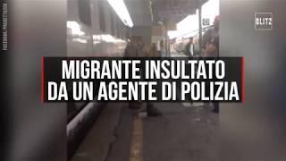 Tensione alla stazione di Ventimiglia, un agente insulta un immigrato.