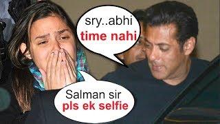 Video Salman Khan IGNORES His Crying Female Fan BEGGING For A Selfie MP3, 3GP, MP4, WEBM, AVI, FLV September 2018